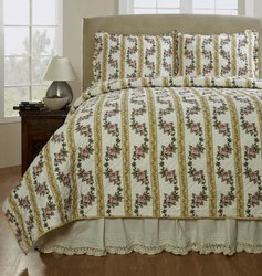 Be-You-Tiful Home Antoinette Quilt Set, Twin, Yellow