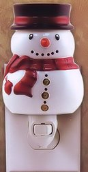 Tuscany Candle Snowman Christmas Holiday Winter Outlet Style