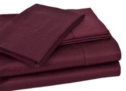 Elite Home 500TC Egyptian Cotton 4-Piece Bed Sheet Set - Burgundy - full
