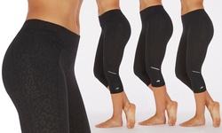 Marika Tek Women's Embossed Capri Legging - Geo Black - Size: Medium