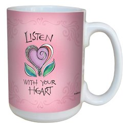 Tree-Free Greetings Listen Ceramic Mug with Full-Sized Handle - 15-Ounce