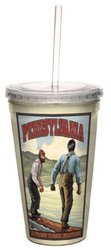 "Tree Free ""Nostalgic Pennsylvania"" Cool Cup with Straw 16 Oz"