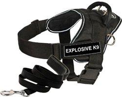 Dean & Tyler 6-Feet Padded Puppy Harness - Explosive K9 - Black - Size: L