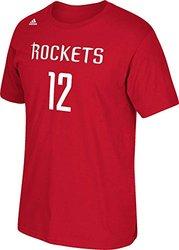 "Adidas NBA ""Rockets 12"" Men's Short Sleeve T-Shirt - Red - Size: X-Large"