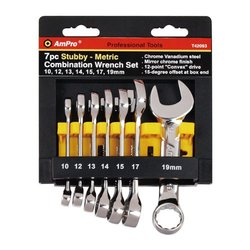AmPro 7 Piece Stubby Combination Wrench Set (T42093)