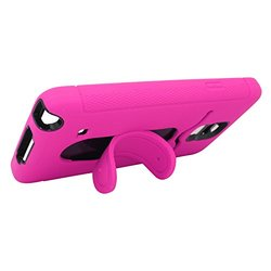 Eagle Cell Samsung Galaxy Note 4 Hybrid Skin Case with Stand - Pink/Black
