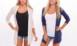 2 Pack Apparel Brands Women's Spring Cardigan - Navy/H Beige - Size: M