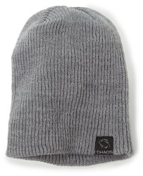 Chaos Men's Trouble Acrylic Slouch Beanie Hat - Gray