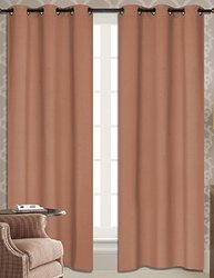 "RT Designers Collection Dover Grommet Blackout Window Curtain Panel, 38 x 84"", Rose"