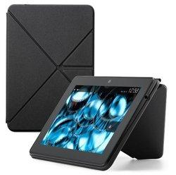 Amazon Kindle Fire HDX Standing Polyurethane Origami Case - Mineral Black