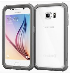 roocase Glacier Tough Full Body Case For Samsung Galaxy S6, Space Gray