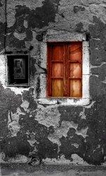 Laila's Orange Window Artwork by Dale Macmillan