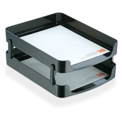 "14"" Letter Tray Front Load, Black ,Officemate, 22236"