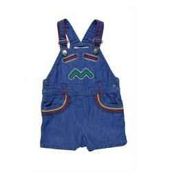 Stella McCartney Girl's Chester Denim Short Overalls - Blue - Size: 12mo