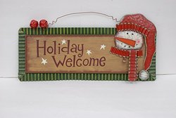 Metal Holiday Magic Snowman Sign - Holiday Welcome