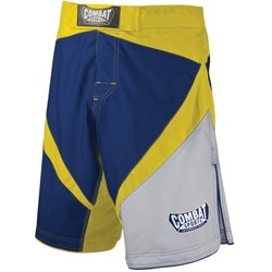 Combat Sports Fight MMA Boardshorts - Blue/Yellow/White - Size: 38