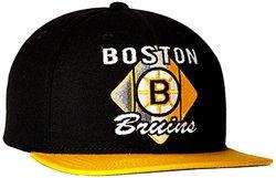 Reebok NHL Boston Bruins Men's Flat Brim Snapback Cap - Black - Size: One