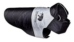 Touchdog Convertible Dog Coat XS Black Black