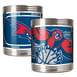 Atlanta Hawks 2pc Stainless Steel Can Holder with Hi-Def Metallic Graphics