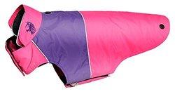 Touchdog Convertible Dog Coat XS Pink/Purple Pink/Purple