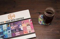 "4"" x 4"" Gabriela Fuente ""Flow"" Rainbow Floral Coasters - Set of 4 - Multi"