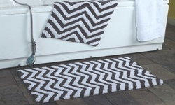 Affinity Linens Chevron Bath Rug 2 Piece Set - Cream - Size: One
