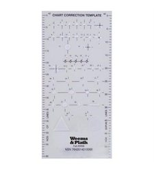 "Weems & Plath 8.5"" x 4"" x 0.2"" Chart Correction Template (9998)"