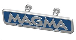 Magma Logo Plate w/ Retainers, Connoisseur/Gourmet Series Grill, Replacement Part