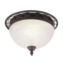 Bel Air Lighting 2-Light Bronze Flushmount Light (CB-60026)