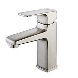Kraus Virtus 1-Hole 1-Handle High-Arc Vessel Bath Faucet - Brushed Nickel