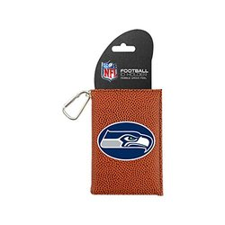 NFL Seattle Seahawks Classic Football ID Holder, One Size, Brown