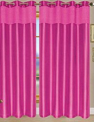 RT Designers Collection Bourdeaux Grommet Panel, 54 by 90-Inch, Neon Pink