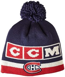 NHL Montreal Canadiens Men's CCM Pom Knit Hat - One Size - Blue