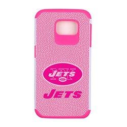 NFL New York Jets Football Pebble Grain Feel Samsung Galaxy S6 Case, Pink