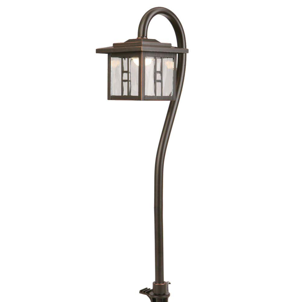 Hampton Bay Low Voltage Oil Rubbed Bronze Led Tiffany Style Path Light Check Back Soon