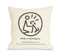 Bentin Pet Decor Dogvergnugen Throw Pillow, 16 by 16-Inch