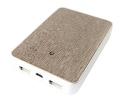 Altaz Light Oak 5200 mAh Firewood Portable Mobile Phone Recharger AZWB101