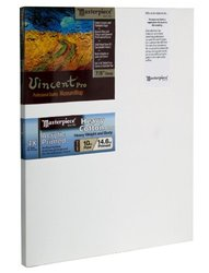 "Masterpiece Vincent PRO 7/8"" Deep, 12 x 18 Inch, Tahoe 10oz Triple Acrylic Primed Cotton Canvas"