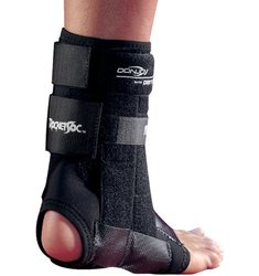 DonJoy RocketSoc Ankle Support Brace, Left Leg, Lace-Up, XX-Large
