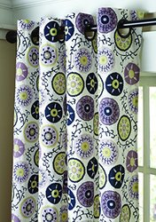 Split P Adrianna Medallion Lined Grommet Panel, 96-Inch