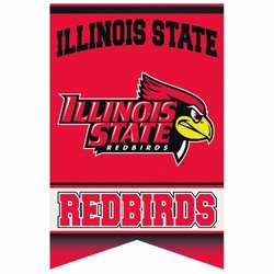 NCAA Illinois State Redbirds Premium Felt Banner 17-by-26