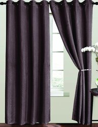 RT Designers Collection Ashton Window Curtain Panel, 54 by 84-Inch, Chocolate