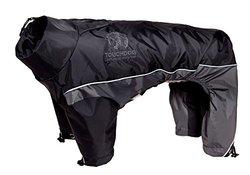 Touchdog Quantum-Ice Full-Bodied 3M Reflective Dog Jacket w/ Blackshark Tech, Black, Grey, XS