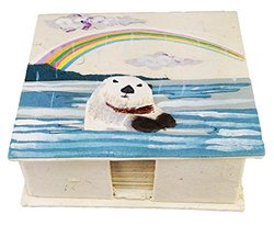 Mr. Ellie Pooh Otter Note Box with Paper (150-852668978296)