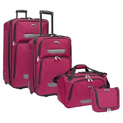 U.S. Traveler Westport 4-Piece Luggage Set: Plum