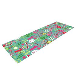 "Kess InHouse Heidi Jennings ""Merry Countdown"" Yoga Mat - Green/Pink"