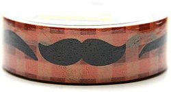 "Scotch Moustache Expressions Washi Tape 1"" Core - Size: 0.59"" x 10.9 yds"