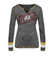 NFL Washington Redskins Women's T-Shirt - Black Staccato/Yellow Gold/Large