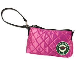 NHL Minnesota Wild Pink Quilted Wristlet
