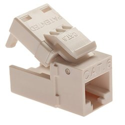 Platinum Tools 706YL-1 EZ-SnapJack Cat6, Ivory